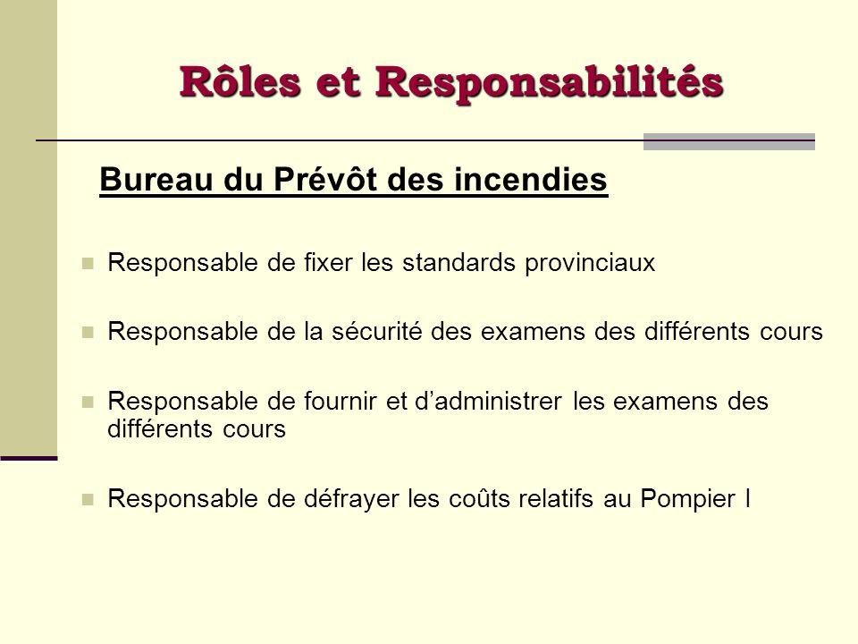 Rôles et Responsabilités