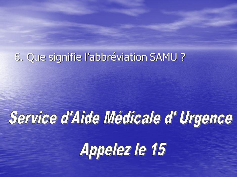 Service d Aide Médicale d Urgence
