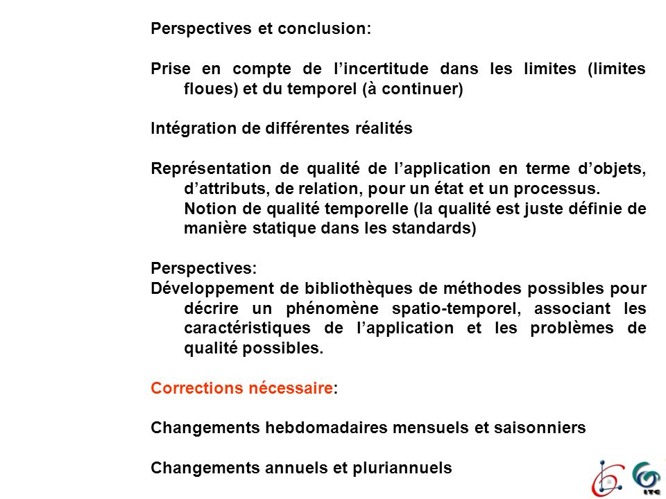 Perspectives et conclusion: