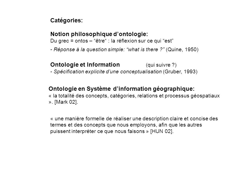 Notion philosophique d'ontologie: