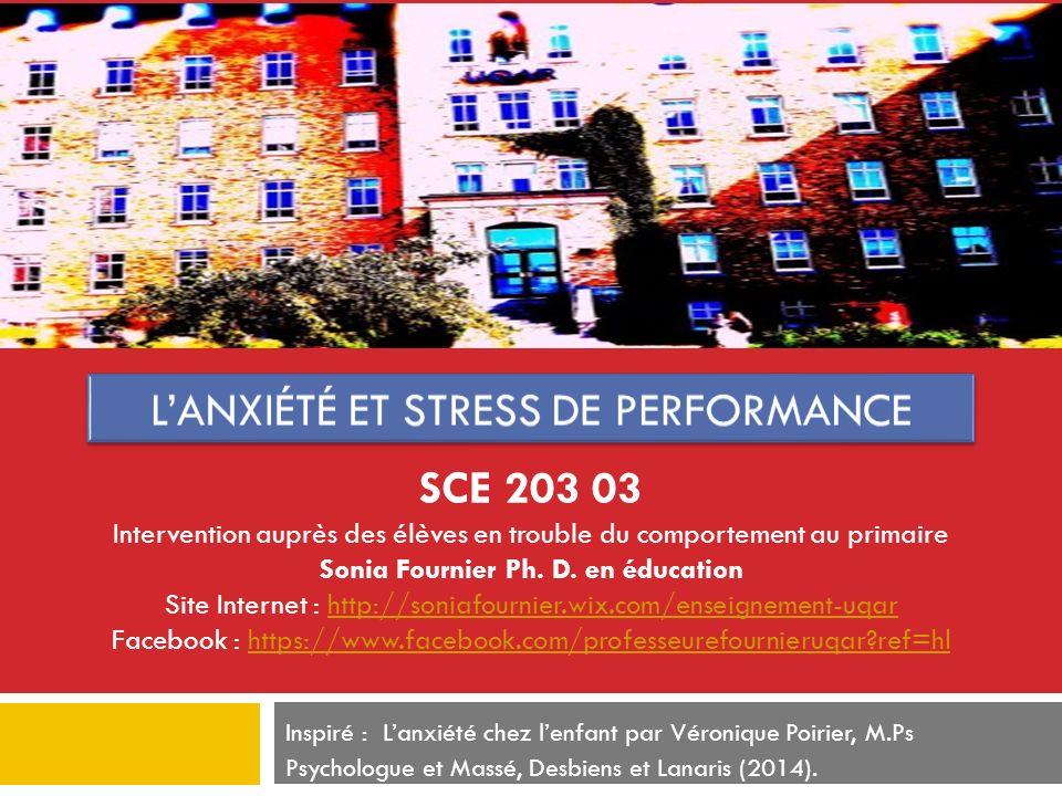 L'anxiété et stress de performance
