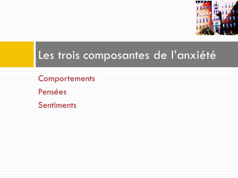Les trois composantes de l'anxiété