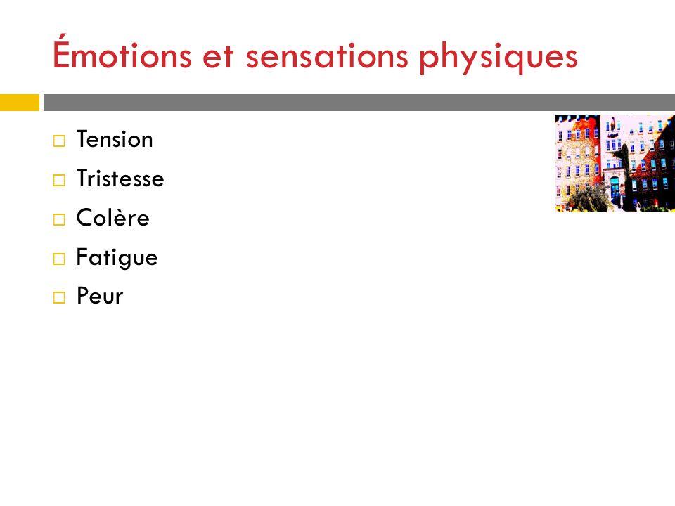 Émotions et sensations physiques