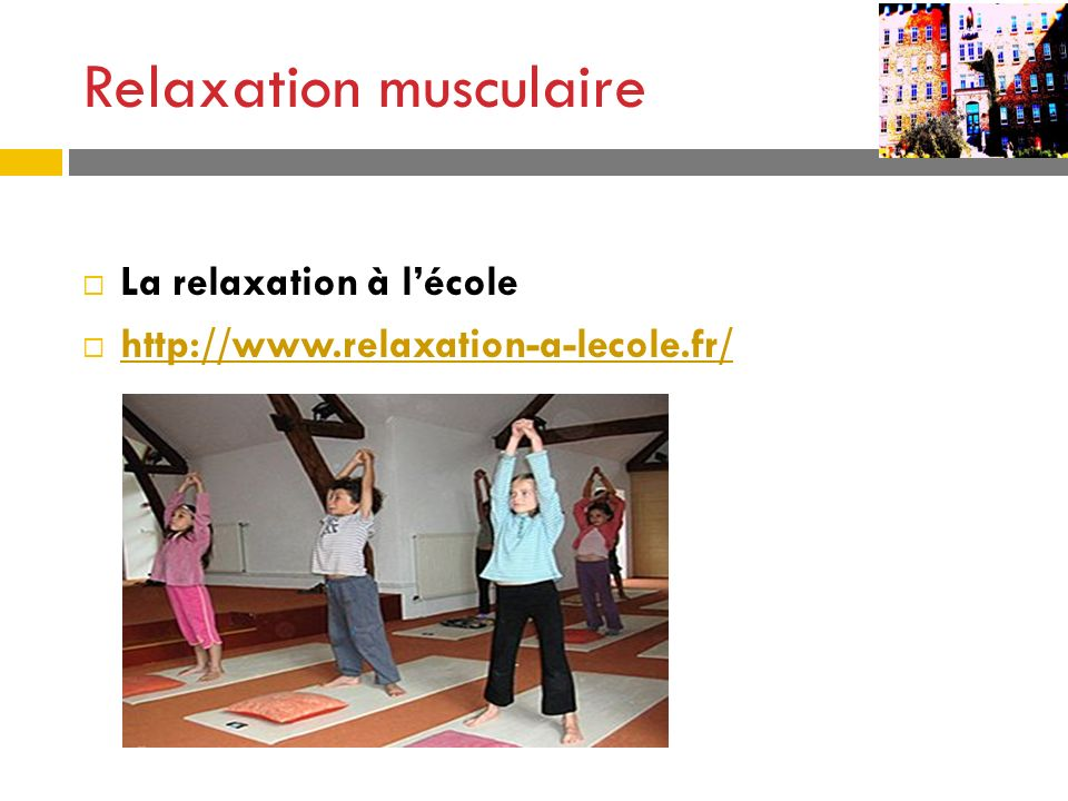 Relaxation musculaire