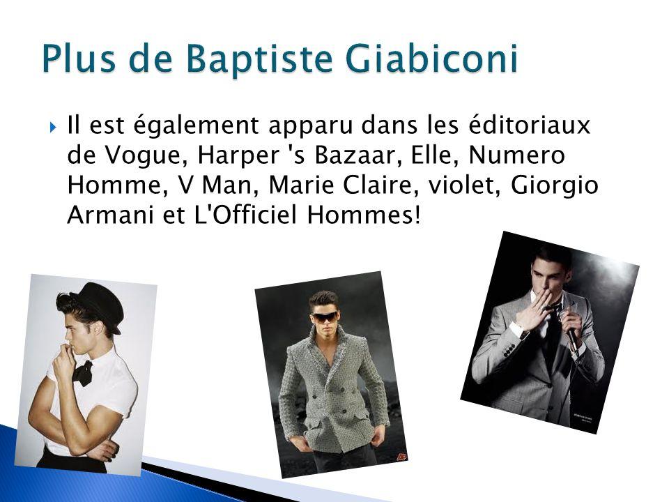 Plus de Baptiste Giabiconi