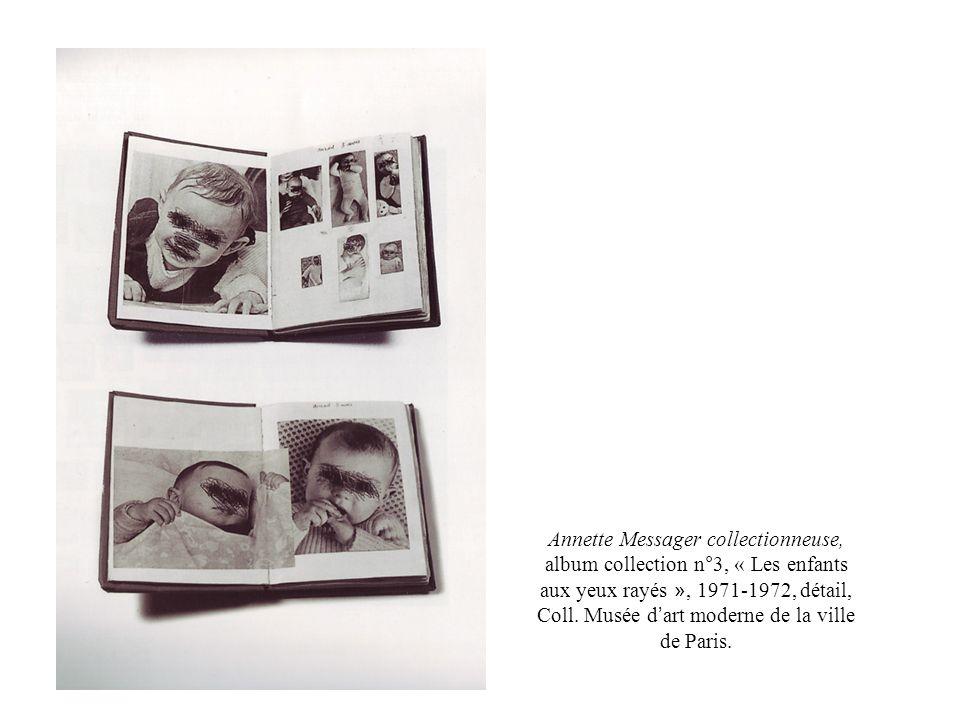 Annette Messager collectionneuse, album collection n°3, « Les enfants aux yeux rayés », 1971-1972, détail, Coll.