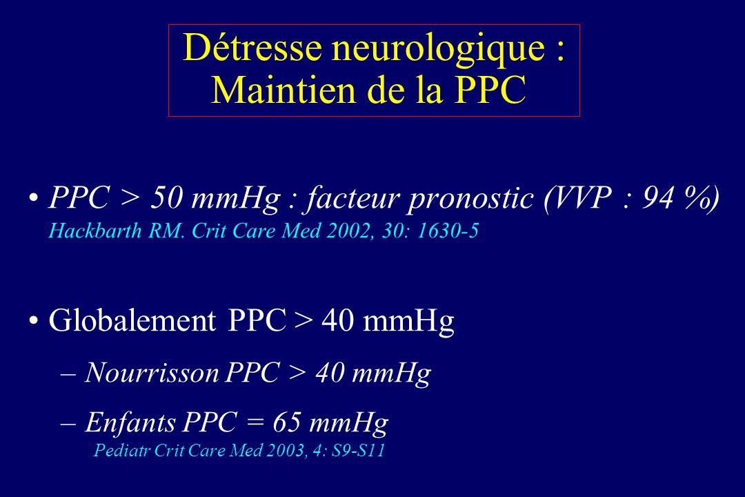 Détresse neurologique : Maintien de la PPC