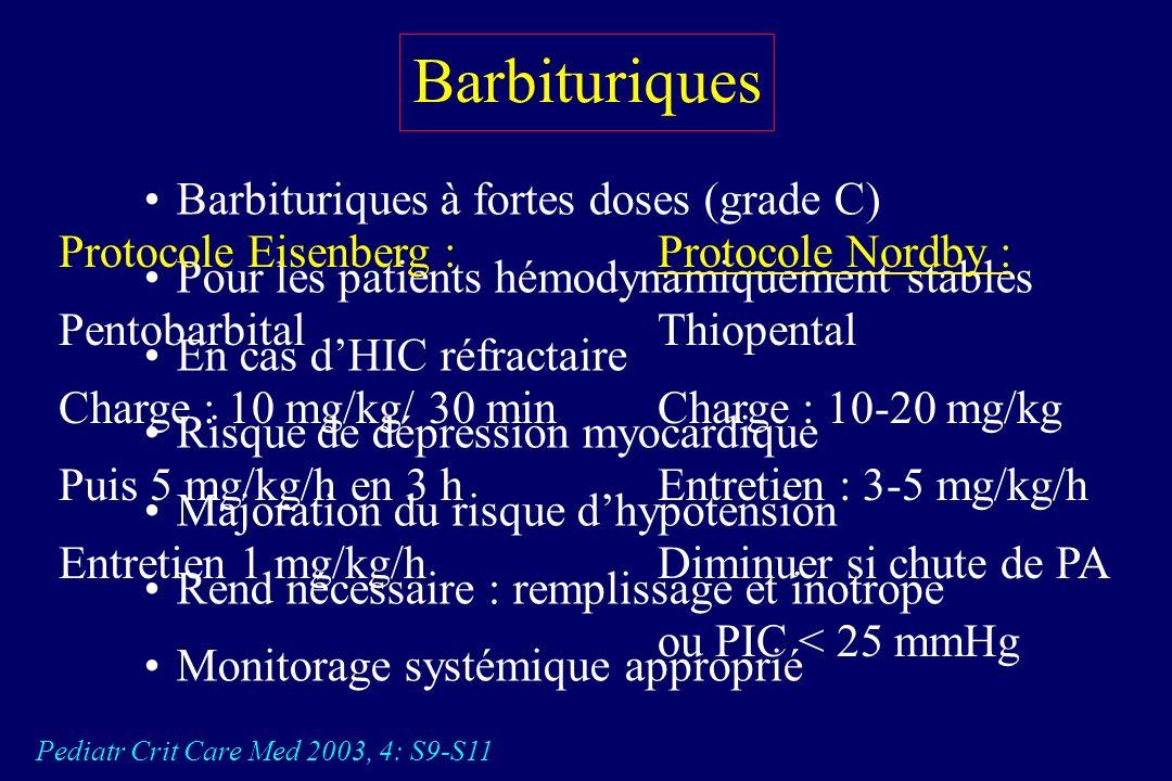 Barbituriques Barbituriques à fortes doses (grade C)