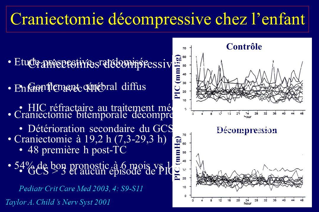 Craniectomie décompressive chez l'enfant