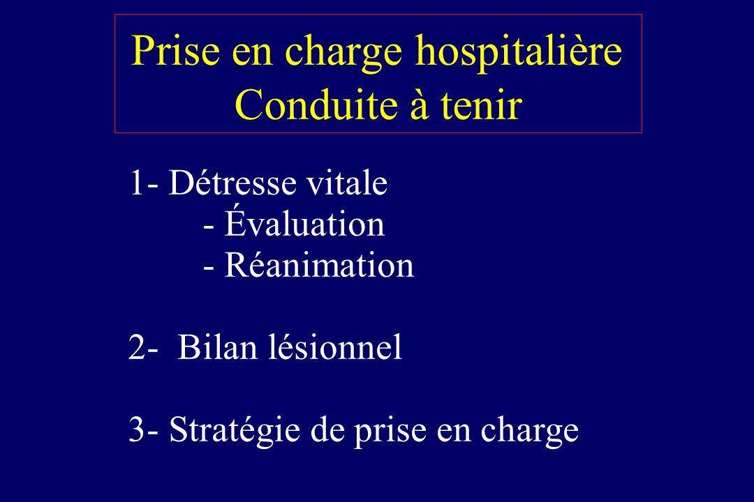 Prise en charge hospitalière Conduite à tenir