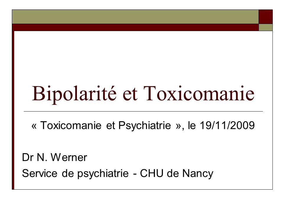 Bipolarité et Toxicomanie