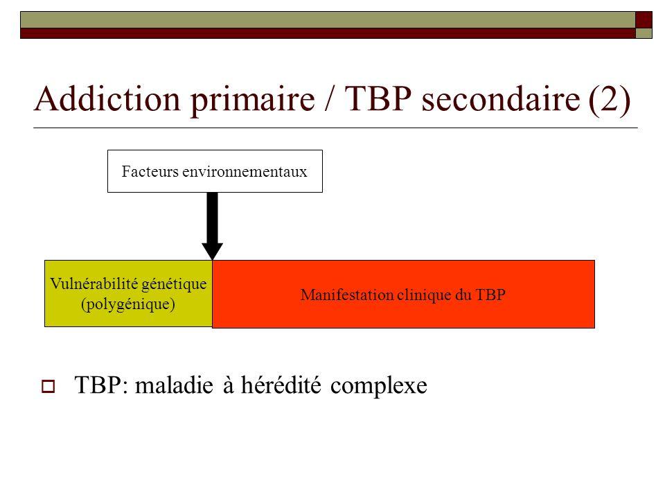 Addiction primaire / TBP secondaire (2)