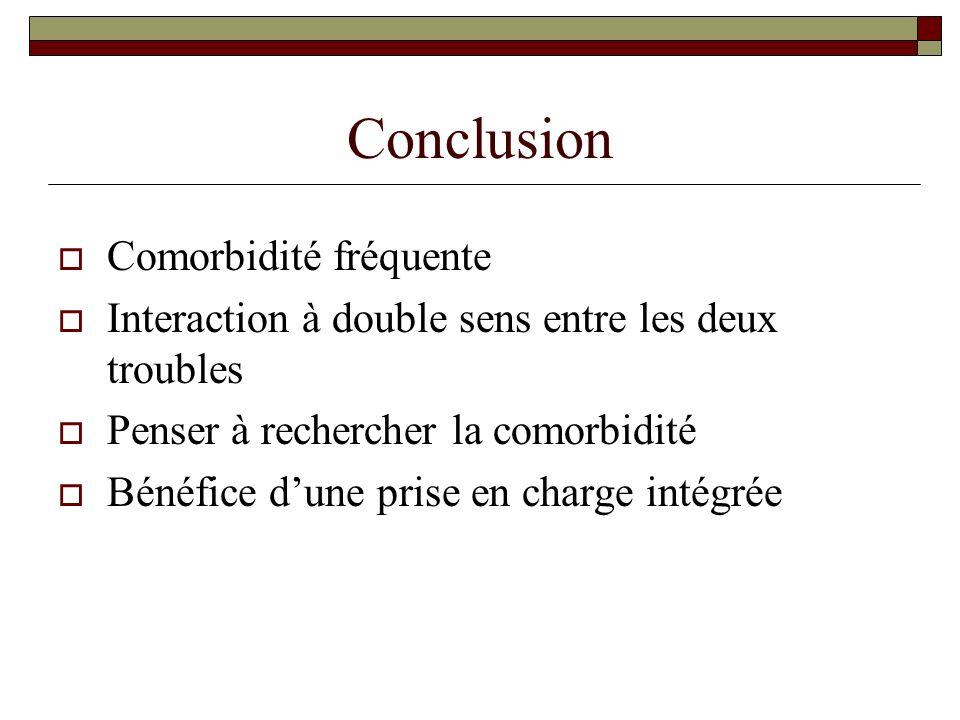 Conclusion Comorbidité fréquente