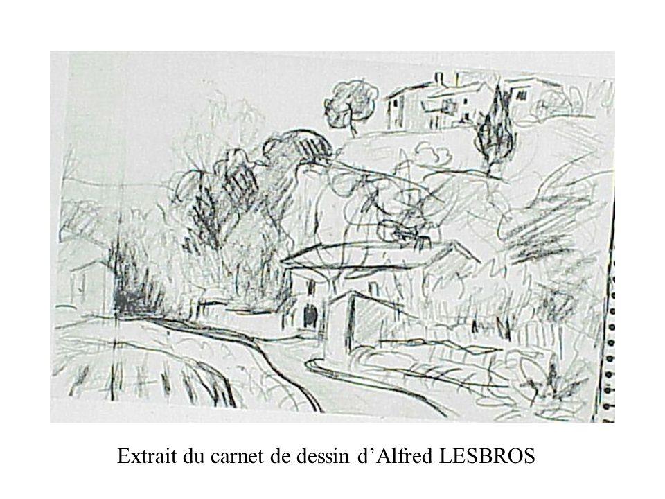 Extrait du carnet de dessin d'Alfred LESBROS