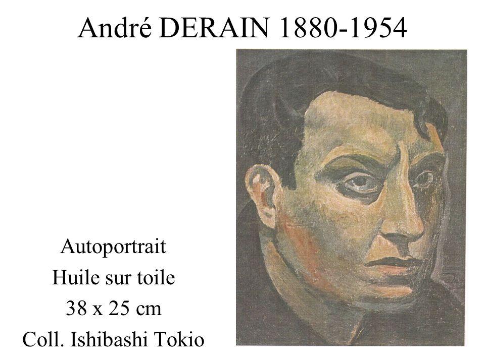 André DERAIN 1880-1954 Autoportrait Huile sur toile 38 x 25 cm