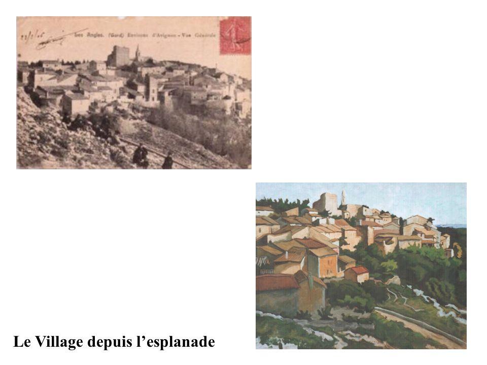 Le Village depuis l'esplanade