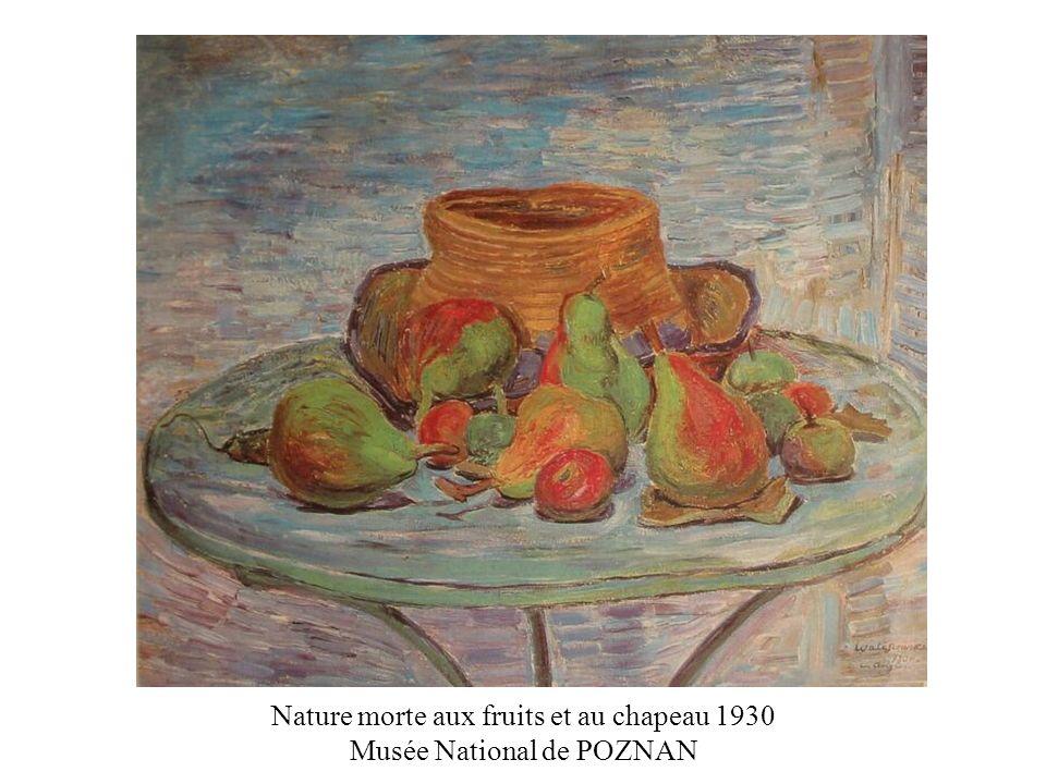Nature morte aux fruits et au chapeau 1930 Musée National de POZNAN
