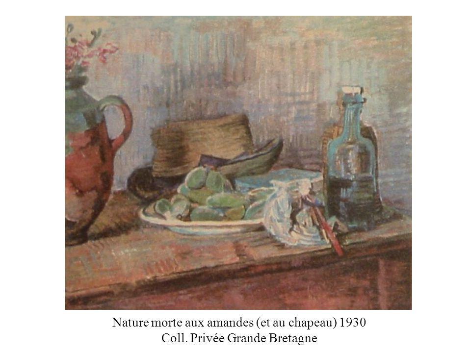 Nature morte aux amandes (et au chapeau) 1930 Coll
