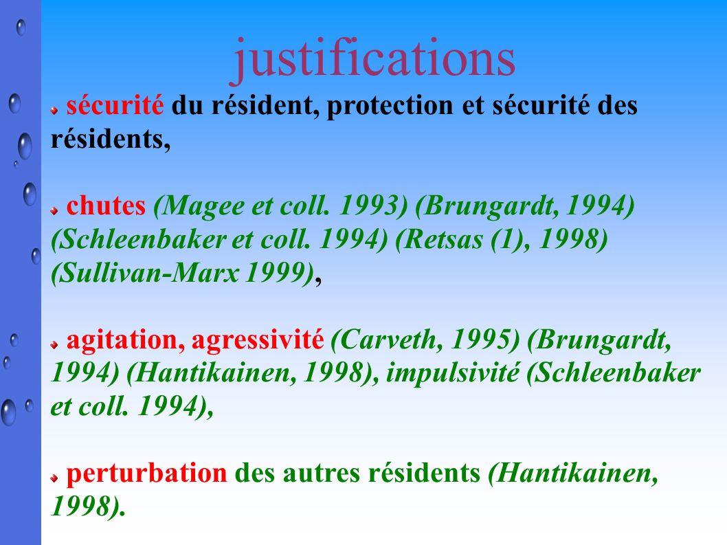justifications sécurité du résident, protection et sécurité des résidents,