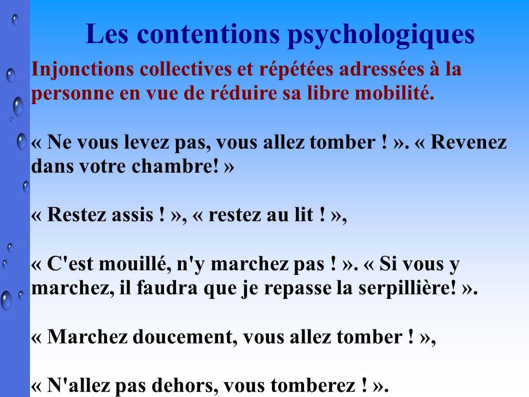 Les contentions psychologiques