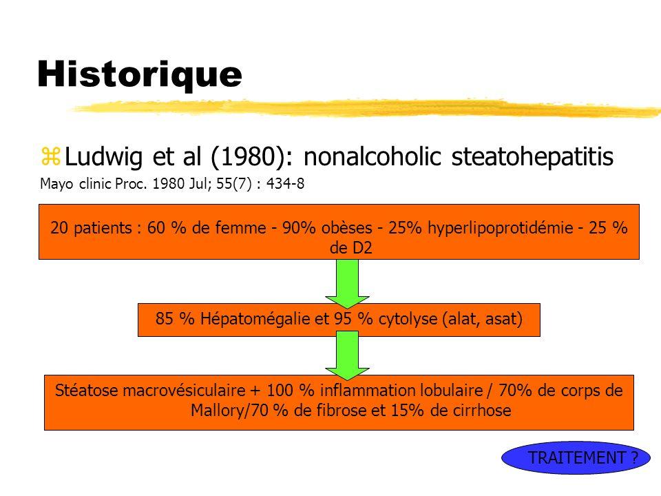 85 % Hépatomégalie et 95 % cytolyse (alat, asat)