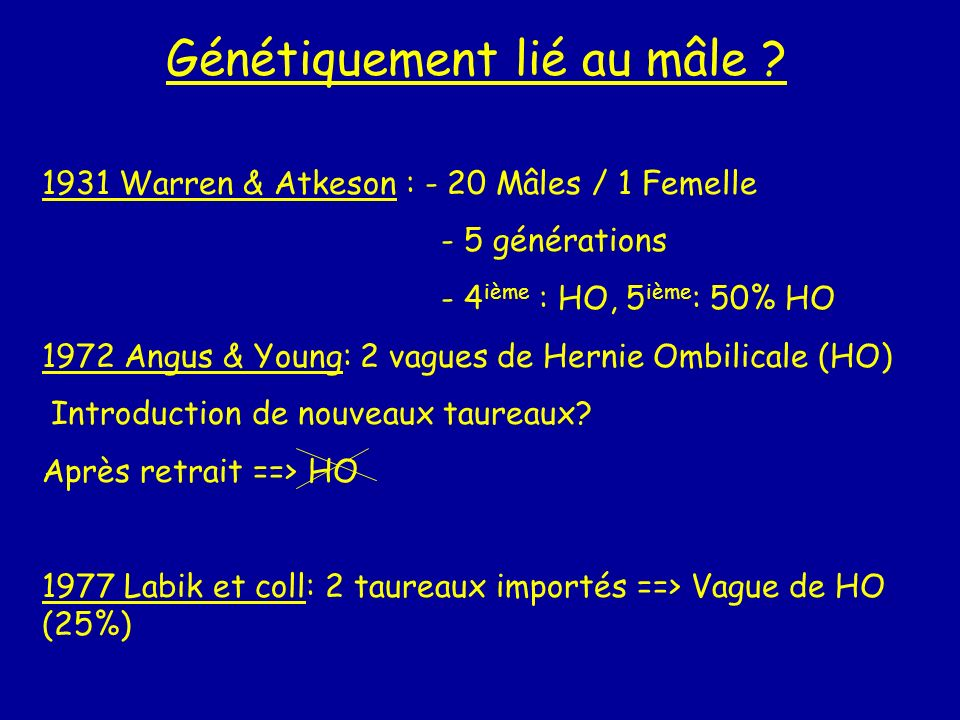 Génétiquement lié au mâle
