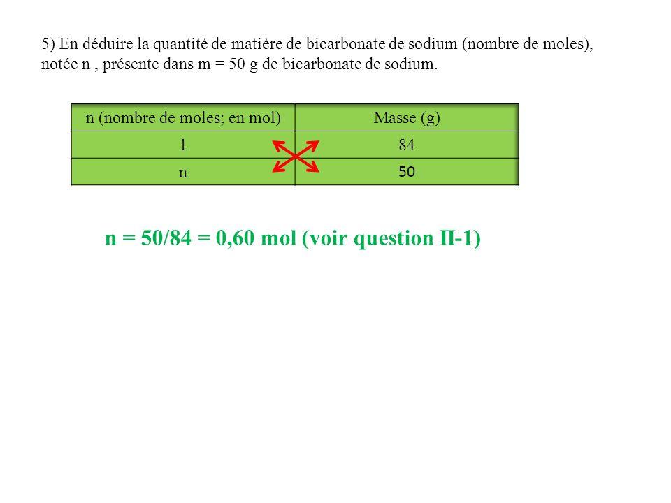 n (nombre de moles; en mol)