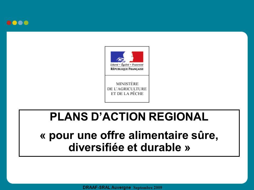 PLANS D'ACTION REGIONAL