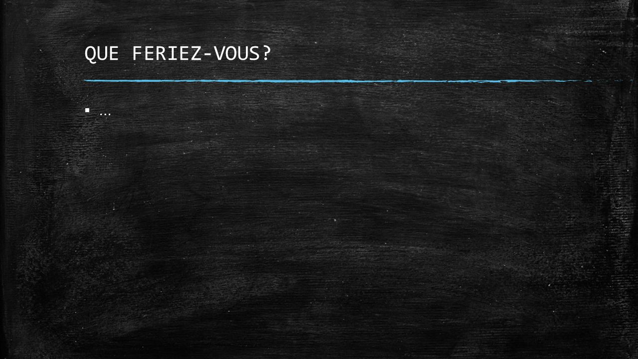 QUE FERIEZ-VOUS … Marjolaine
