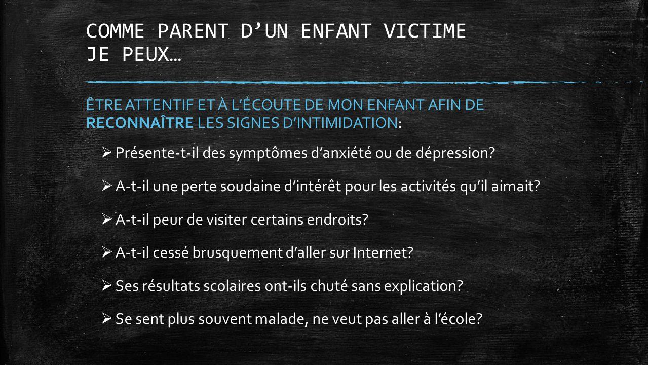COMME PARENT D'UN ENFANT VICTIME JE PEUX…