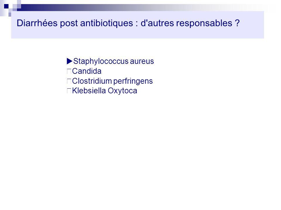 Diarrhées post antibiotiques : d autres responsables