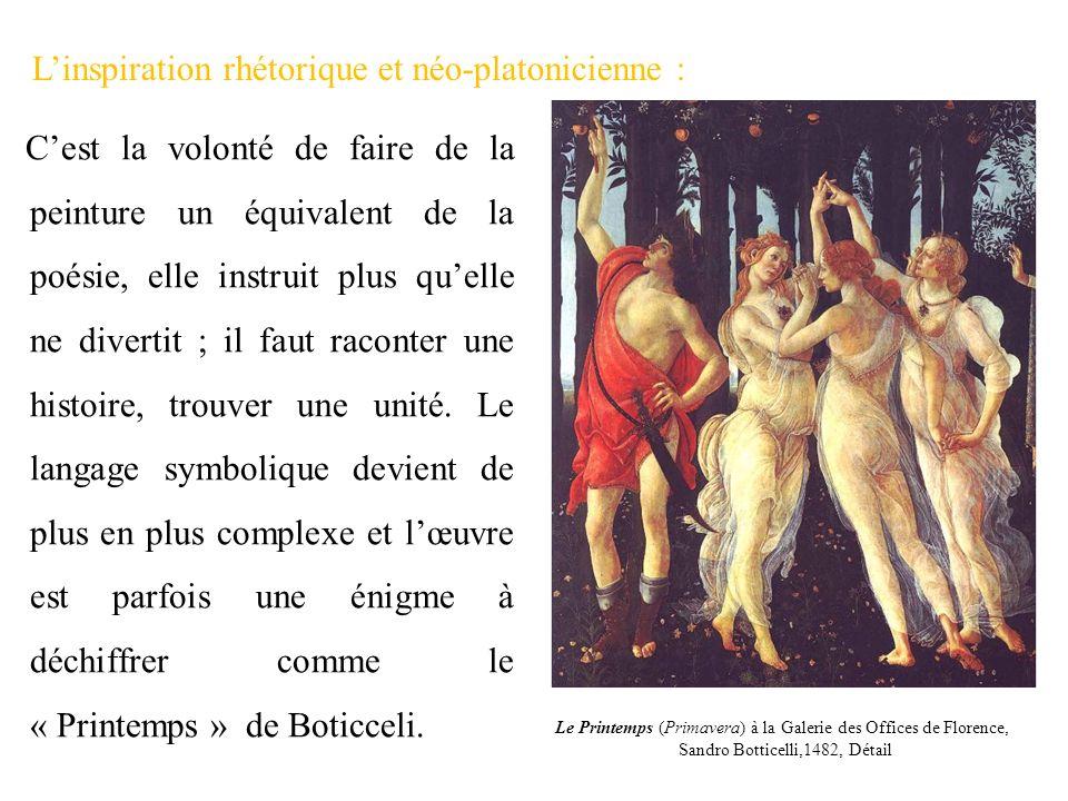 L'inspiration rhétorique et néo-platonicienne :