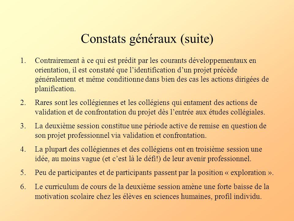 Constats généraux (suite)