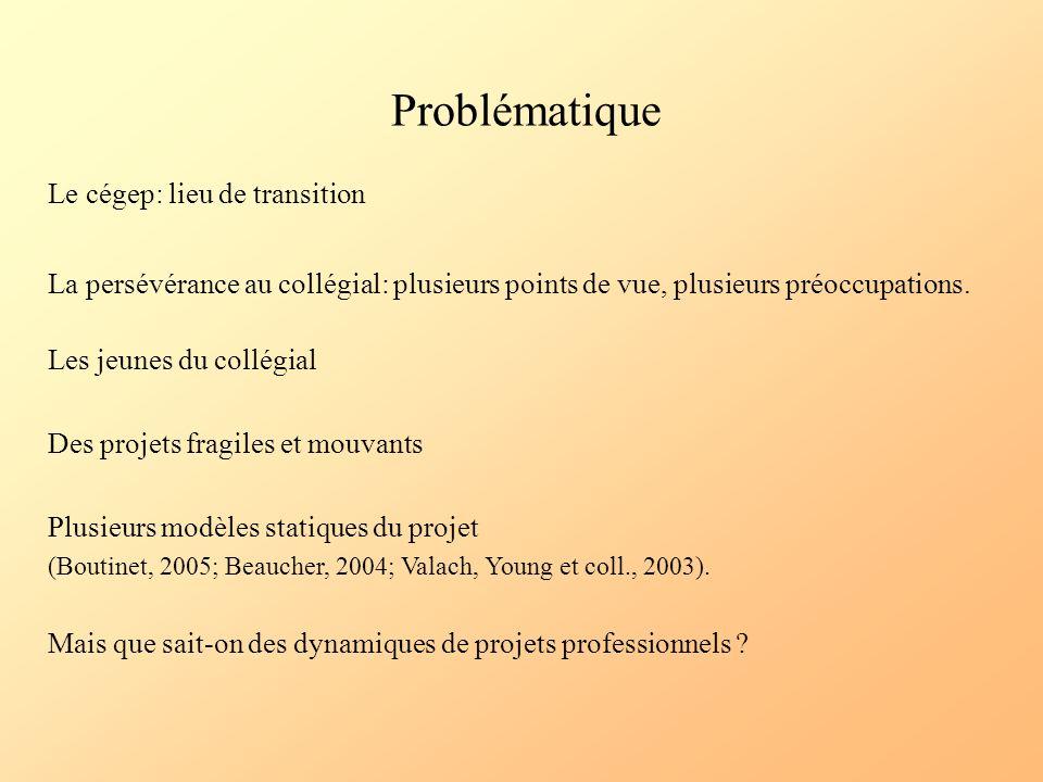 Problématique Le cégep: lieu de transition