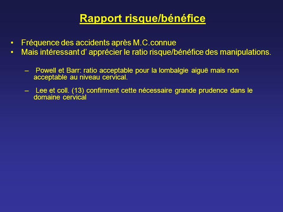 Rapport risque/bénéfice