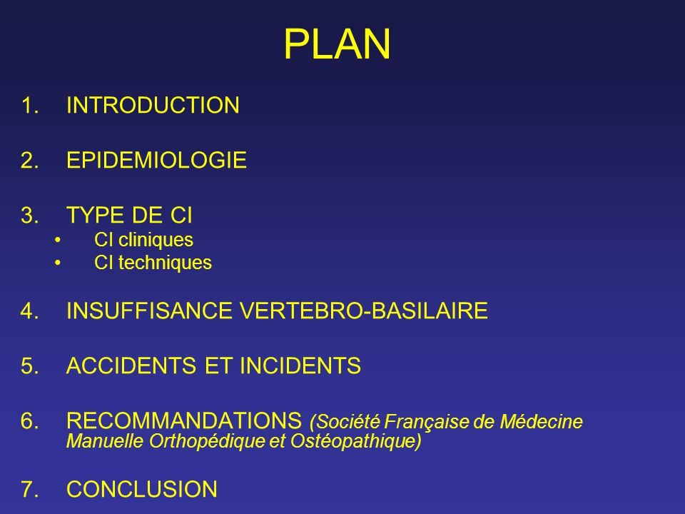 PLAN INTRODUCTION EPIDEMIOLOGIE TYPE DE CI