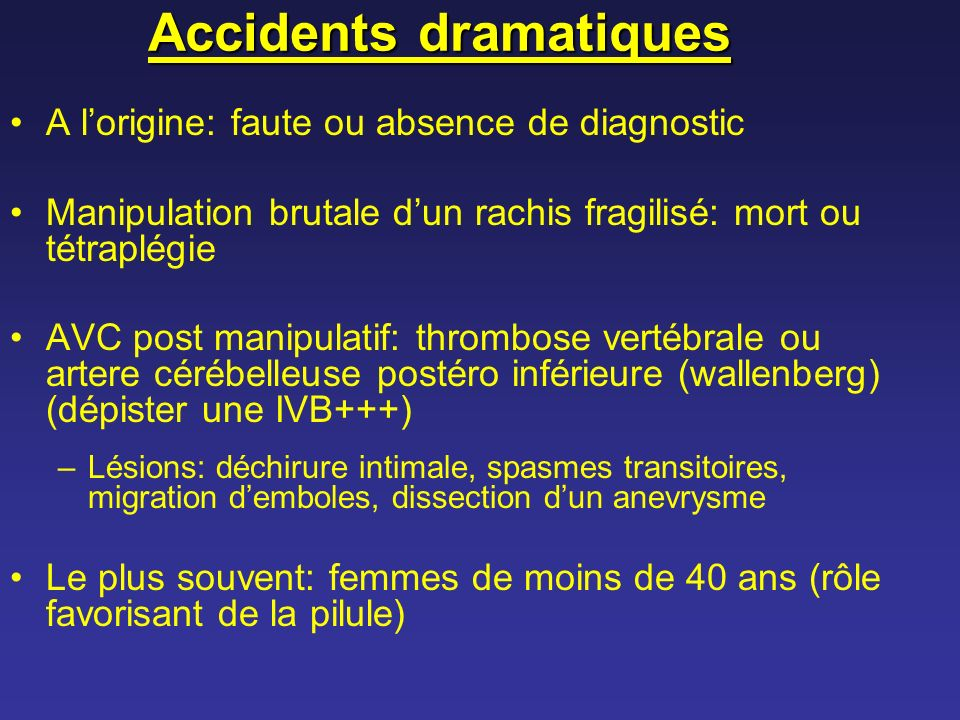 Accidents dramatiques