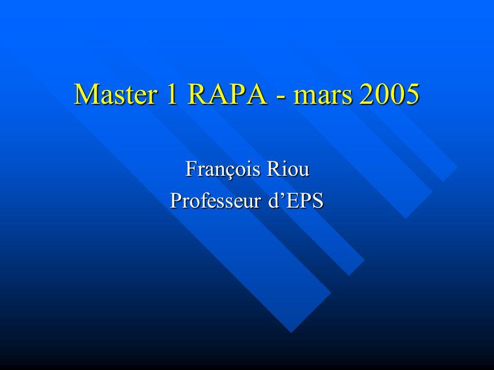 François Riou Professeur d'EPS