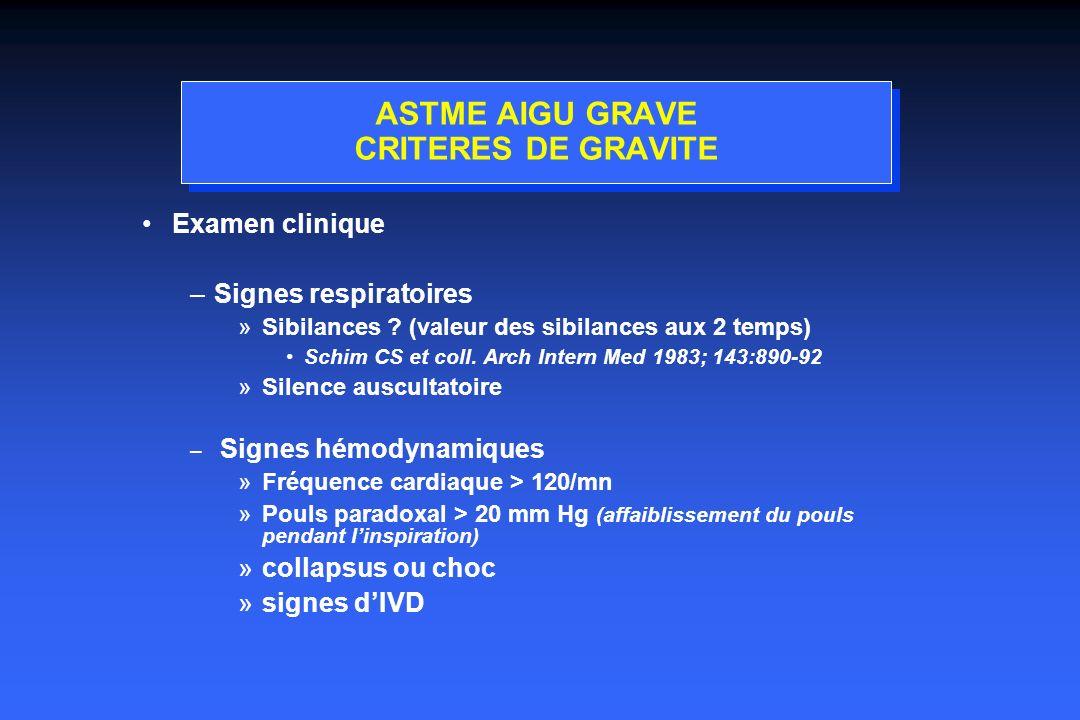 ASTME AIGU GRAVE CRITERES DE GRAVITE
