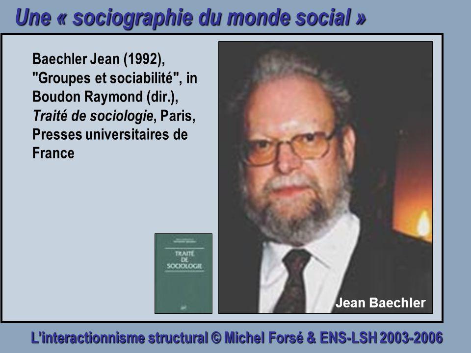Une « sociographie du monde social »