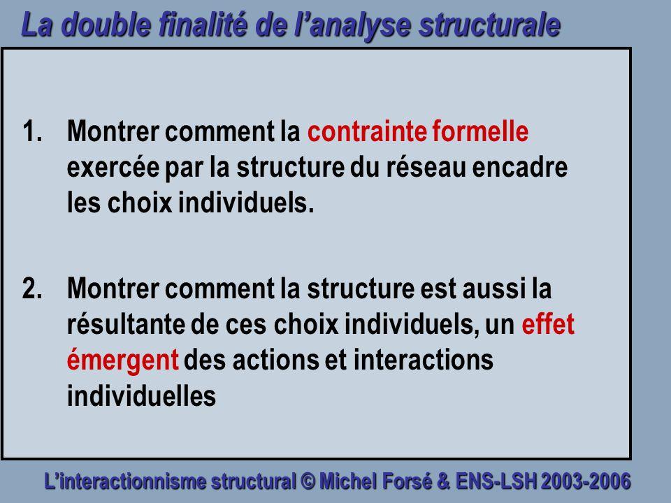 La double finalité de l'analyse structurale