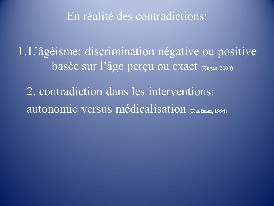 En réalité des contradictions: