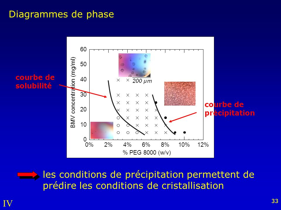 Diagrammes de phase 10. 20. 30. 40. 50. 60. 0% 2% 4% 6% 8% 10% 12% BMV concentration (mg/ml)