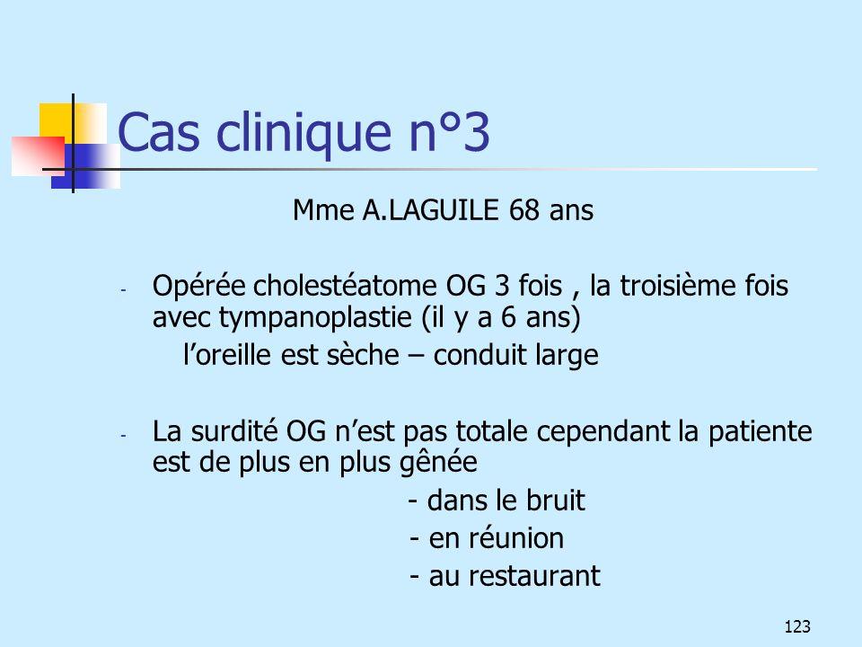 Cas clinique n°3 Mme A.LAGUILE 68 ans
