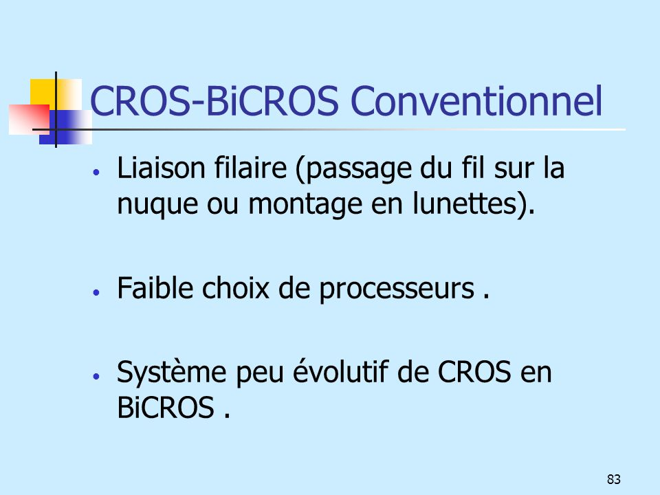 CROS-BiCROS Conventionnel