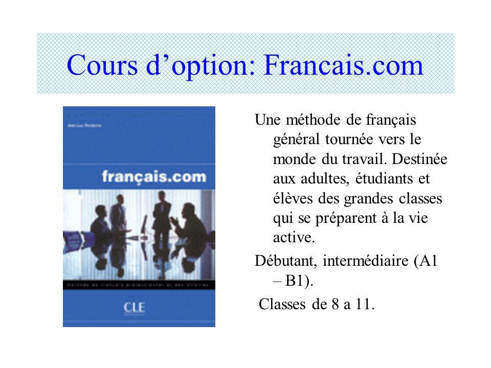 Cours d'option: Francais.com