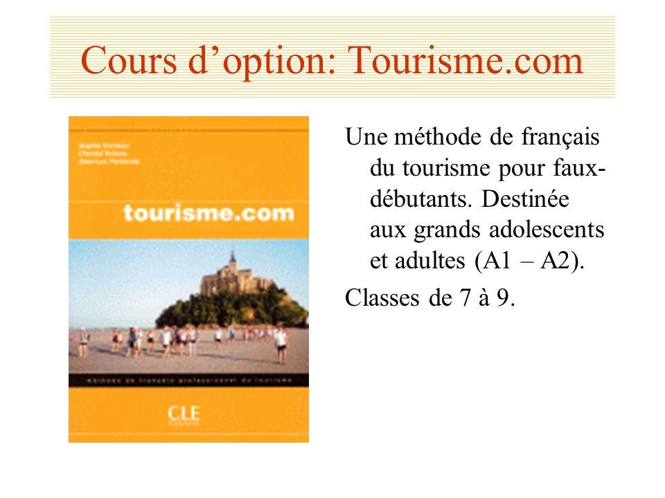 Cours d'option: Tourisme.com