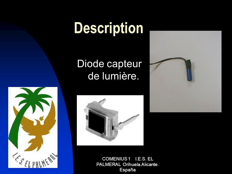 Description Diode capteur de lumière.
