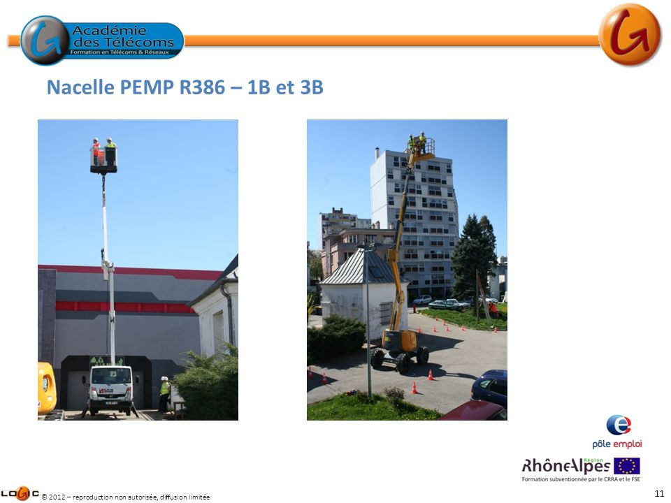 Nacelle PEMP R386 – 1B et 3B Travaux en hauteur ( CACES PEMP)
