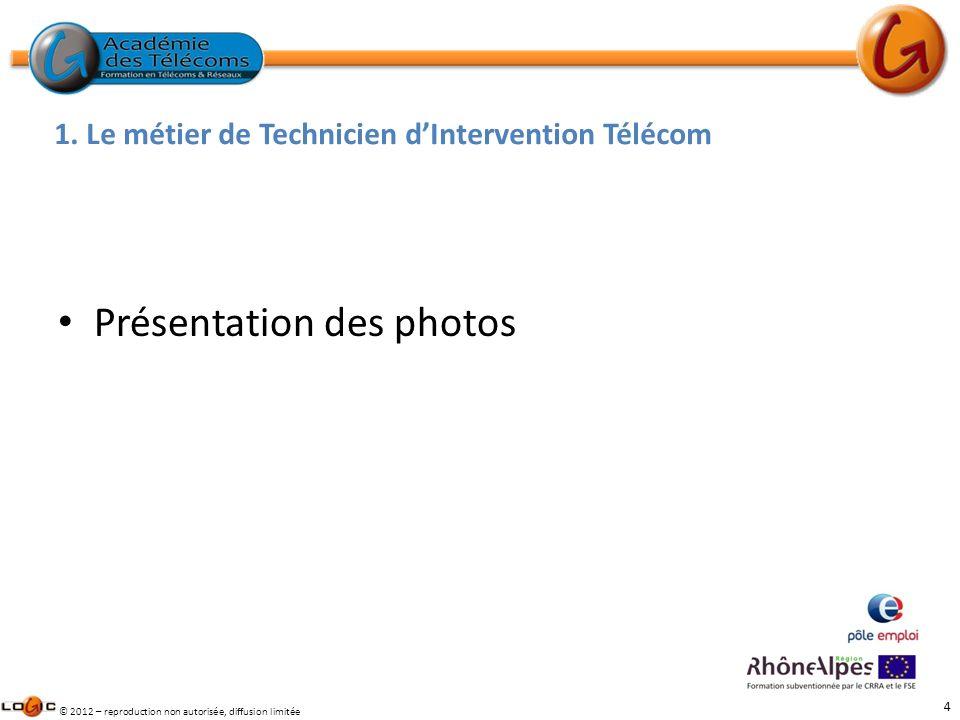 1. Le métier de Technicien d'Intervention Télécom